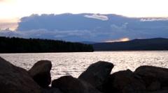 Francois lake BC Stock Footage
