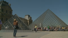 The Louvre (seven) in Paris Stock Footage