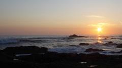 Sunset Time Lapse, Atlantic Coast, Portugal Stock Footage