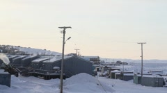 Cold Artic Town - stock footage