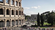 Coliseum Front - Time Lapse, HD1080 Stock Footage