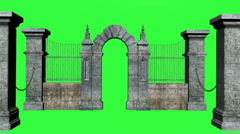 Gate Chroma Key Stock Footage