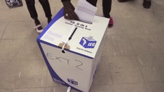 Ballot Box MS South African Elections GFHD Stock Footage