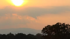 Sunrise in the smokey mountains Stock Footage