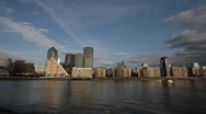 Stock Video Footage of Canary Wharf Time Lapse
