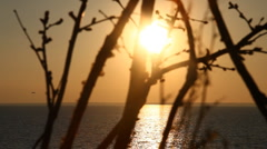 Evening sky in Greece HD Stock Footage