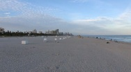 South Beach Evening Zoom In ( HD ) Stock Footage