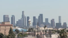 Los Angeles Downtown and Paramount Tower Handheld ( HD ) Stock Footage
