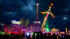 Fun fair time lapse 09 sky Stock Footage