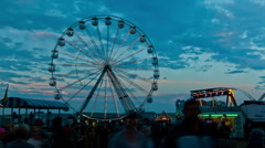 Fun fair time lapse 06 big wheel Stock Footage