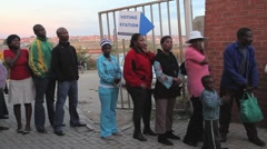 Citizens waiting to Vote, South Africa GFHD Stock Footage