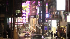 Hong kong alley way Stock Footage