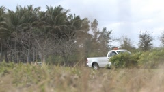 "City of Miami ""Parks and Recreations"" Vehicle Parked on the Shoulder ( HD ) Stock Footage"