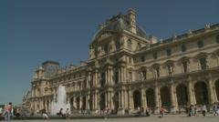 Palace at the Louvre Paris Stock Footage