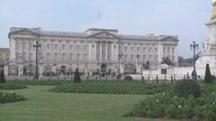 Buckingham Palace Wide Shot 50i Stock Footage