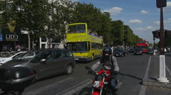 Bus Tours To The Arc De Triomphe In Paris France Stock Footage