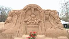Sand Sculpture 3 Stock Footage