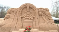 Stock Video Footage of Sand Sculpture 3