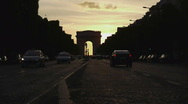 Stock Video Footage of HD720p50 Arc de Triomphe at the western end of the Champs-Élysées in Paris.