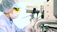 Sterile Environment-Pharmaceutical Factory Stock Footage