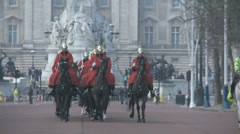 Household Cavalry on the Mall 50i Stock Footage