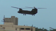 CH-47 Chinook Landing at Pearl Harbor Stock Footage