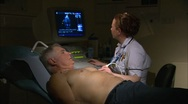 Echocardiography procedure Stock Footage