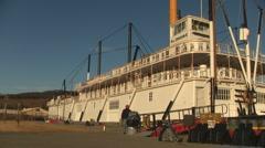Historic Paddlewheeler Boat, Whitehorse, Yukon, Canada Stock Footage