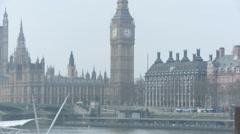 Parliament and Big Ben 50i Stock Footage