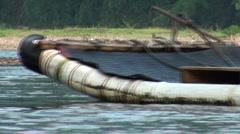 Tourist raft passing, Yangshuo tourism, China Stock Footage