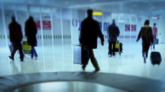 Timelapse of People on the Airport - stock footage