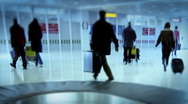 Stock Video Footage of Timelapse of People on the Airport