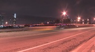Night Cars Miami Pan View ( HD ) Stock Footage