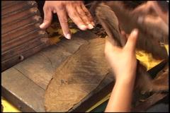 rolling cigars - stock footage