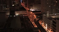 Miami Night Metro Mover Zoom Out ( HD ) Stock Footage