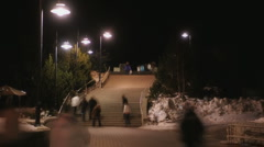 Walking Stairs Stock Footage