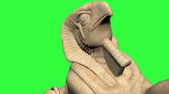 High angle view of Egyptian Statue Stock Footage