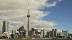 Toronto Skyline Timelapse Stock Footage