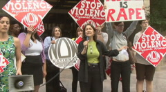 3 of 4 Protest against Dominique Strauss-Kahn/IMF Stock Footage