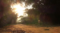 Rural setting in China Stock Footage