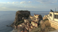 Stock Video Footage of Italy Calabria Scilla man looking from upper town