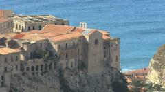 Italy Calabria coast Tropea walls - stock footage
