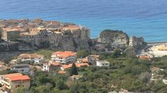 Italy Calabria coast at Tropea Stock Footage