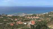 Stock Video Footage of Italy Calabria coast Tropea pans north