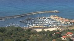 Italy Calabria coast Tropea harbor on the TyrrhenianSea Stock Footage