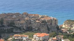Italy Calabrian coast at Tropea Stock Footage