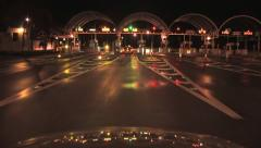 A view of a Pay Toll Booth from a Car Roof Handheld ( HD ) Stock Footage