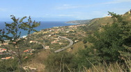 Stock Video Footage of Calabria coast with highway