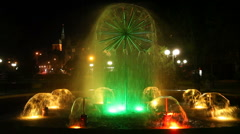Kolobrzeg Fountain Stock Footage