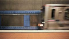 Subway Train in Hollywood, Los Angles Stock Footage